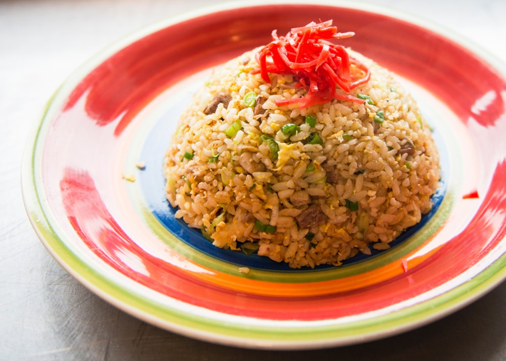 Chahan, a japanese fried rice dish, sits waiting to be eaten at Ramen Kazama in Minneapolis on Friday, March 18.