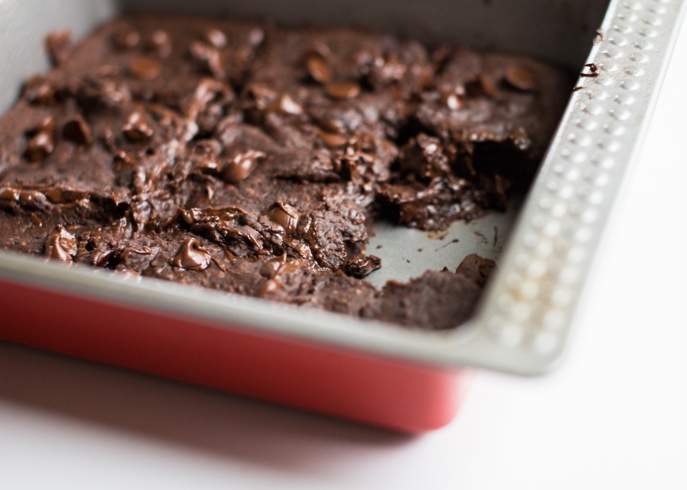 Made with oats, honey, cocoa powder, vanilla extract, salt and baking powder, black bean brownies are a healthier alternative to the typical treat.