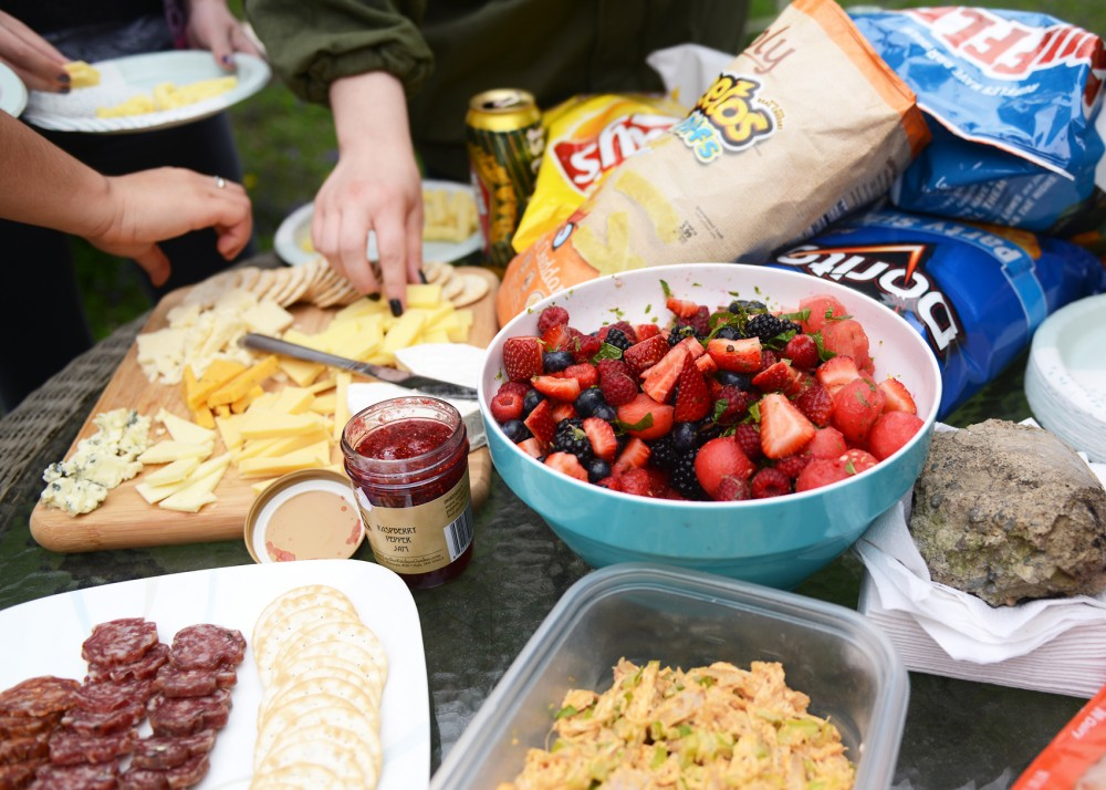 A fruit salad is an easy and delicious way to add a healthy element to your picnic.
