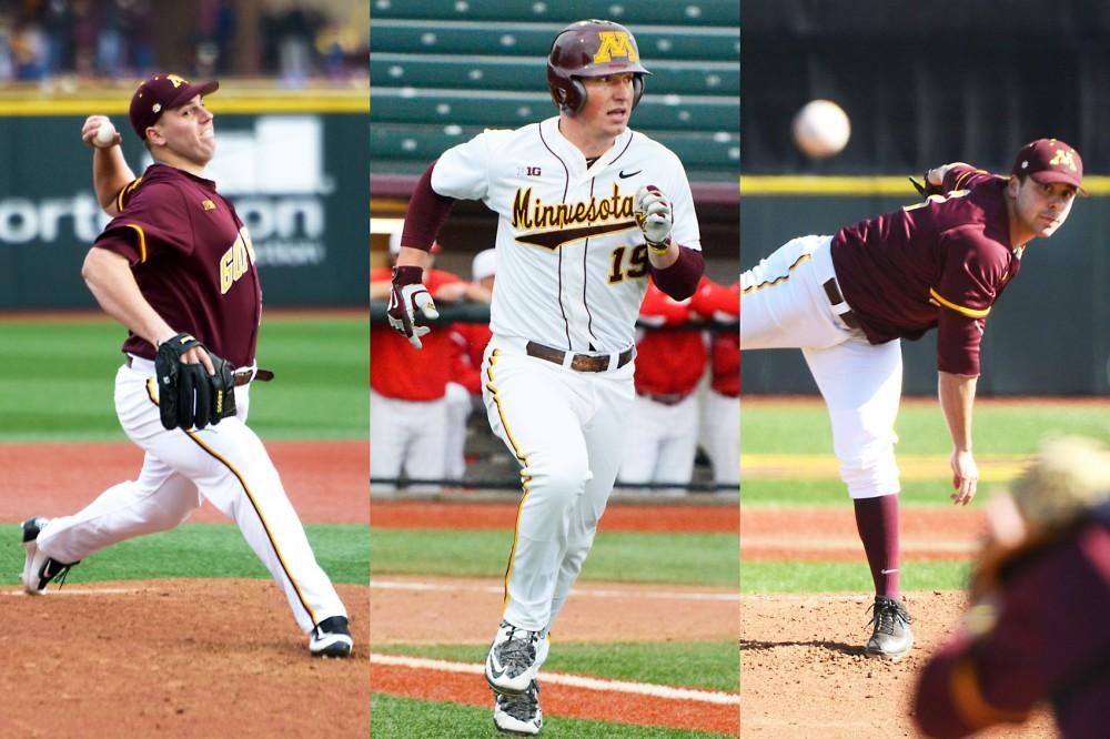 Left to right: Jordan Jess, Austin Athmann and Matt Fiedler. Not pictured: Dalton Sawyer.