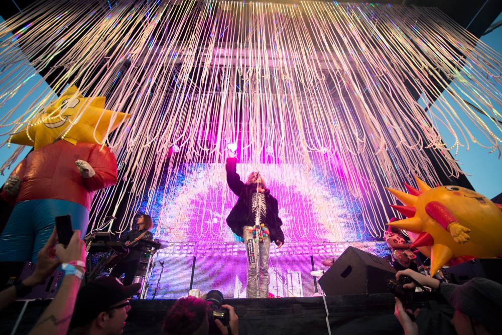 Wayne Coyne of The Flaming Lips performs at Rock the Garden 2016 at Boom Island Park on Saturday.