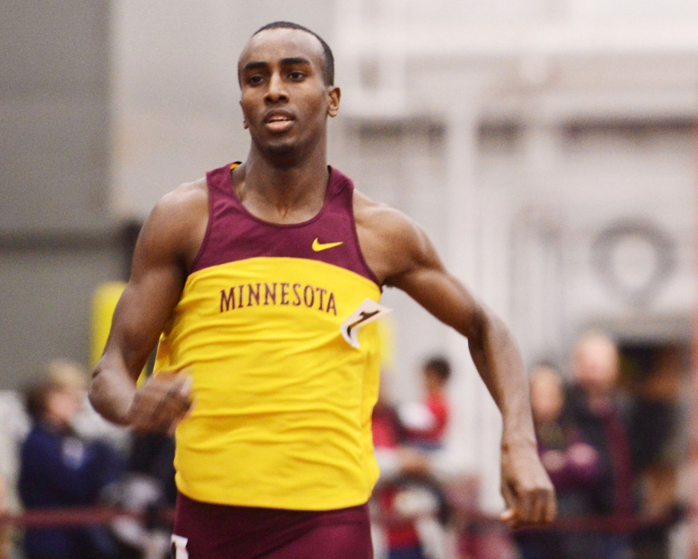 Minnesota's Harun Abda competes in the 800-meter run Feb. 15, 2013, at the University Fieldhouse.