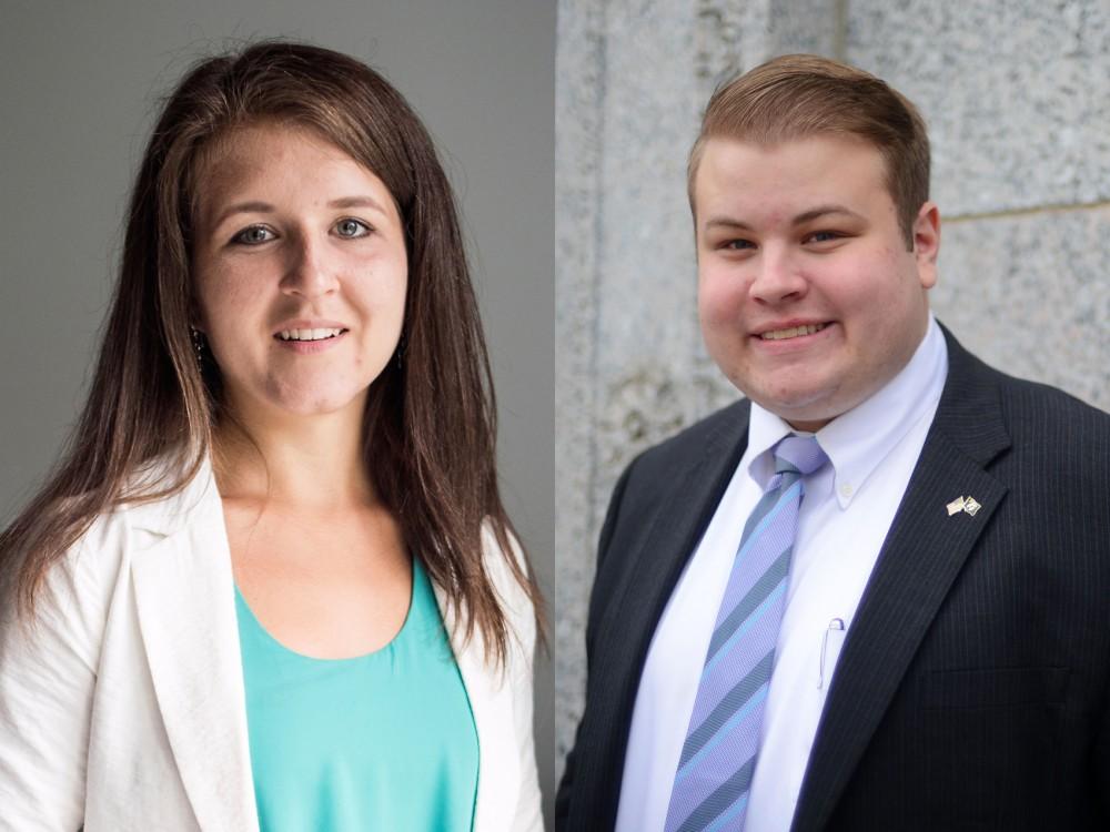Representatives Abigail Whelan and Drew Christensen.