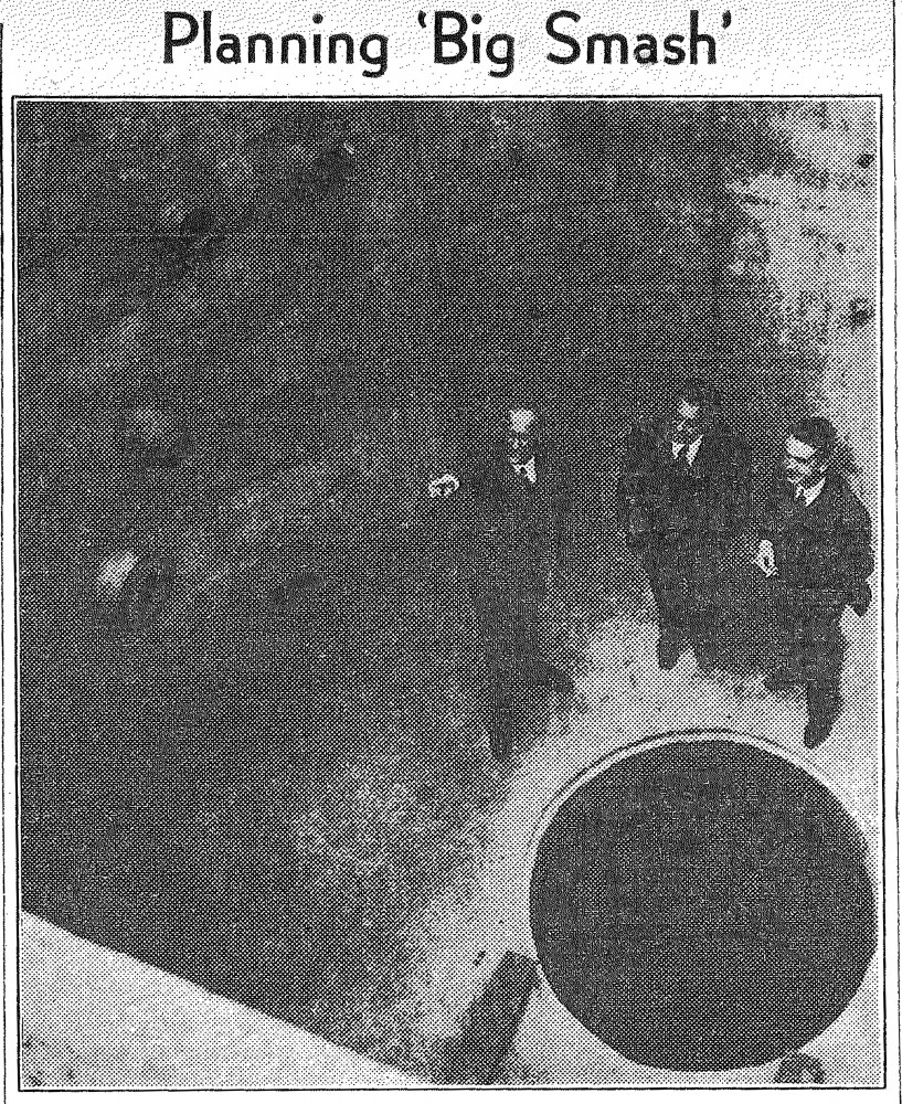 Minnesota Daily Archive Photo of Dr. John T. Tate, Dr. H. A. Erikson and Dr. John H. Williams during the construction of the Van de Graaff , image originally published  July 26, 1938.
