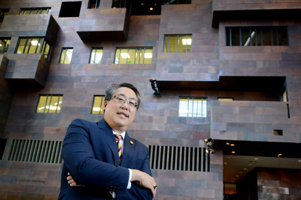 Regent Michael Hsu poses for a portrait at the McNamara Alumni Center on Wednesday, Sept. 7, 2016.
