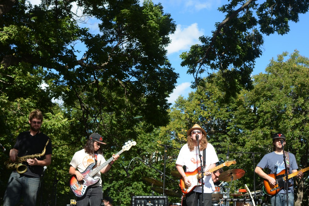 Frogleg performs at Kellogg Mall Park on Saturday, Sept. 10, 2016 in St. Paul for the River Balcony Prototyping Festival.