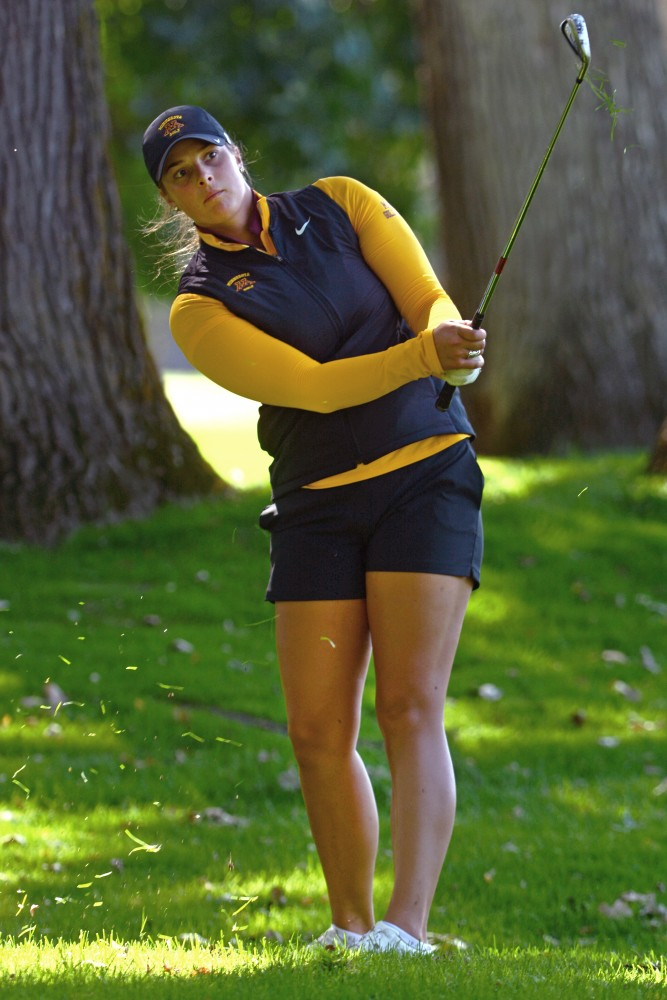 Sophomore Maggie Heggerston plays at the fourth annual Minnesota Invitational on Tuesday, Sept. 13, 2016 at the Minikahda Club.