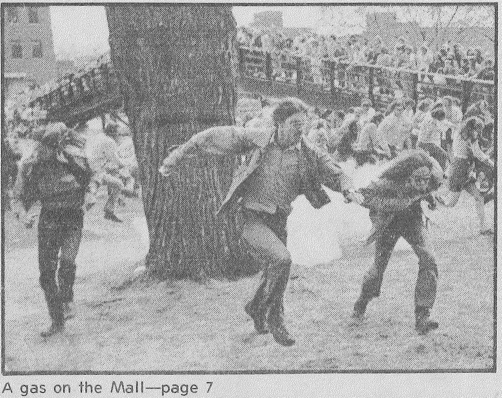 As the protest grew more restless, police tried to get students out of the mall area. Police broke the protester lines by shooting nearly 40 canisters of mild tear gas and pepper fogger into the crowd. Soon after, Governor Wendell Anderson called in the National Guard to help police get the protest under control.