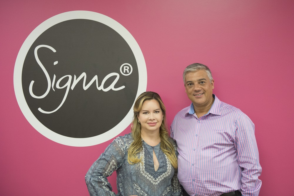 Founders of Sigma Beauty, Simone Xavier and Rene Xavier Filho in the company offices in Mendota Heights on Friday, October, 7, 2016. Xavier said transitioning from being a professor to running a business has been a challenge every day.