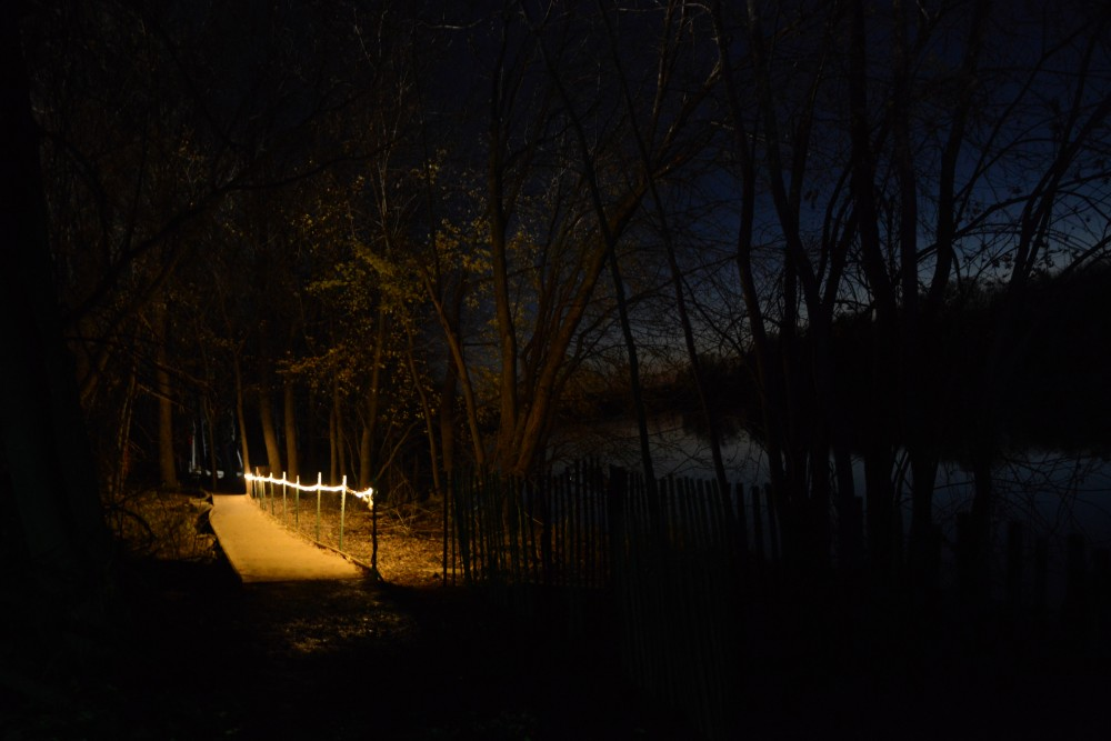 The Howling Pines Wood Walk is a major feature of the Trail of Terror, as seen on Sunday, Oct. 23, 2016 in Shakopee, Minnesota.
