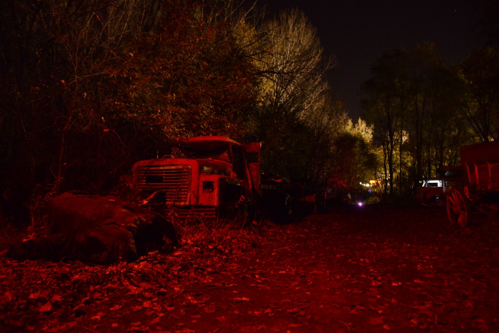 The Howling Pines Wood Walk is a major feature of Trail of Terror as seen on Sunday, Oct. 23, 2016 in Shakopee, Minnesota.