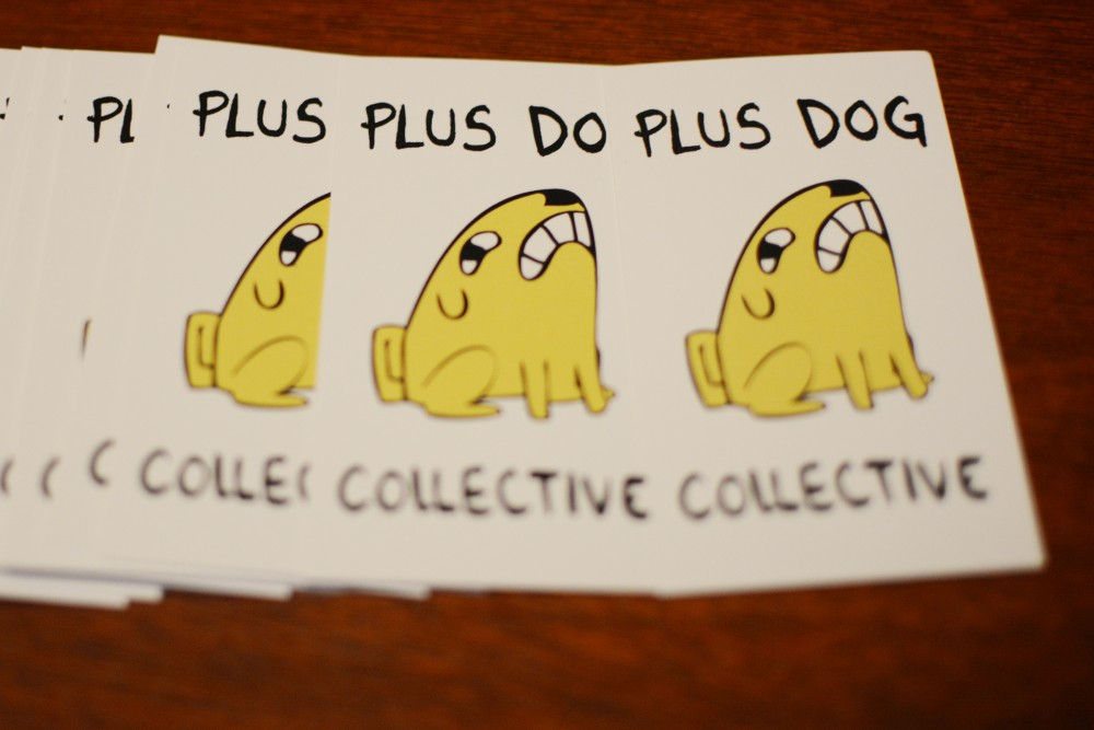 Plus Dog Collective is a community of 15 members that publishes an anthology of comics and art twice a year. The core members, April Kasulis, Marissa Luna, and Alex Araiza met at MCAD and began Plus Dog Collective in 2014.
