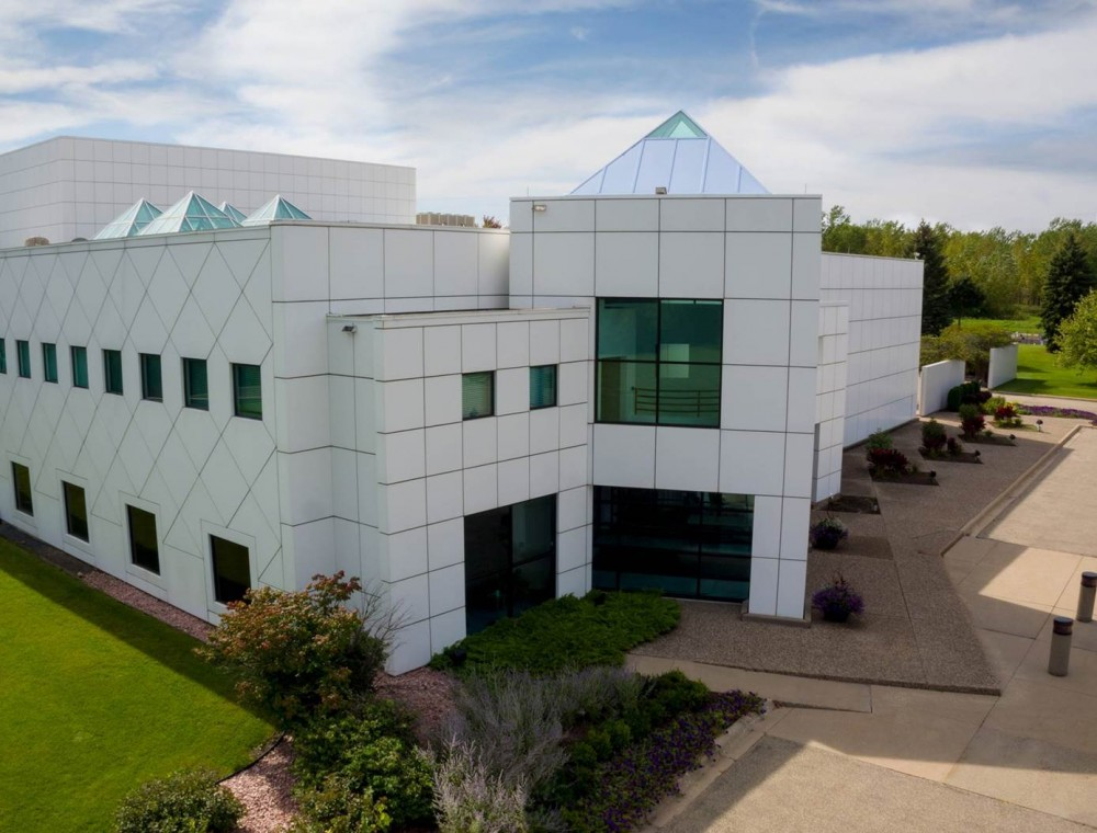 The exterior of Paisley Park located in Chanhassen, Minnesota.