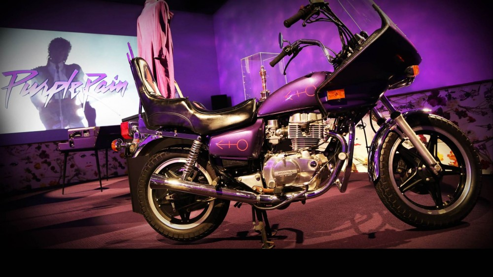 Paisley Park is now home to various Prince memorabilia, including one of the motorcycles featured in his film 'Purple Rain.'