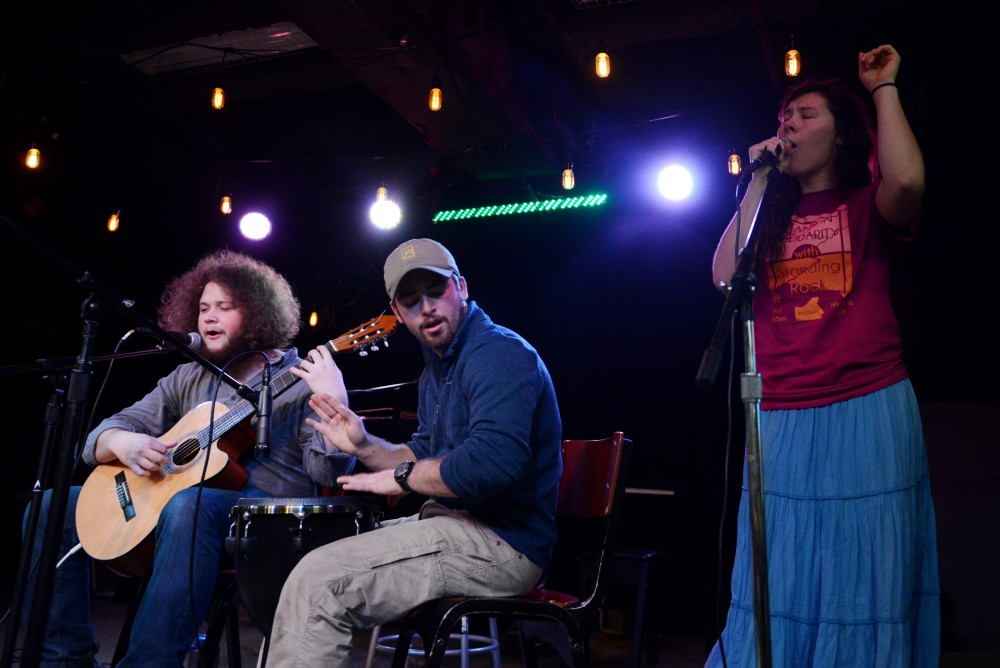 The musical act Willows performs at the Stand With Standing Rock benefit event at the Whole Music Club on Nov. 28, 2016.