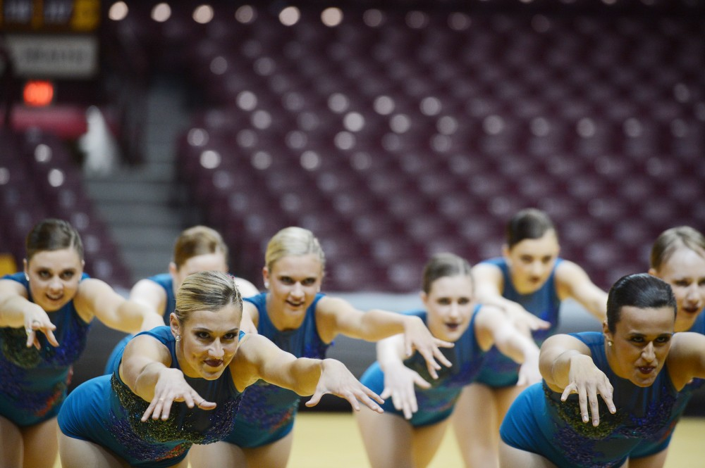University of Minnesota Dance Team preforms their jazz routine on Monday, Jan. 9, 2017 during the Spirit Squad Nationals Send Off.