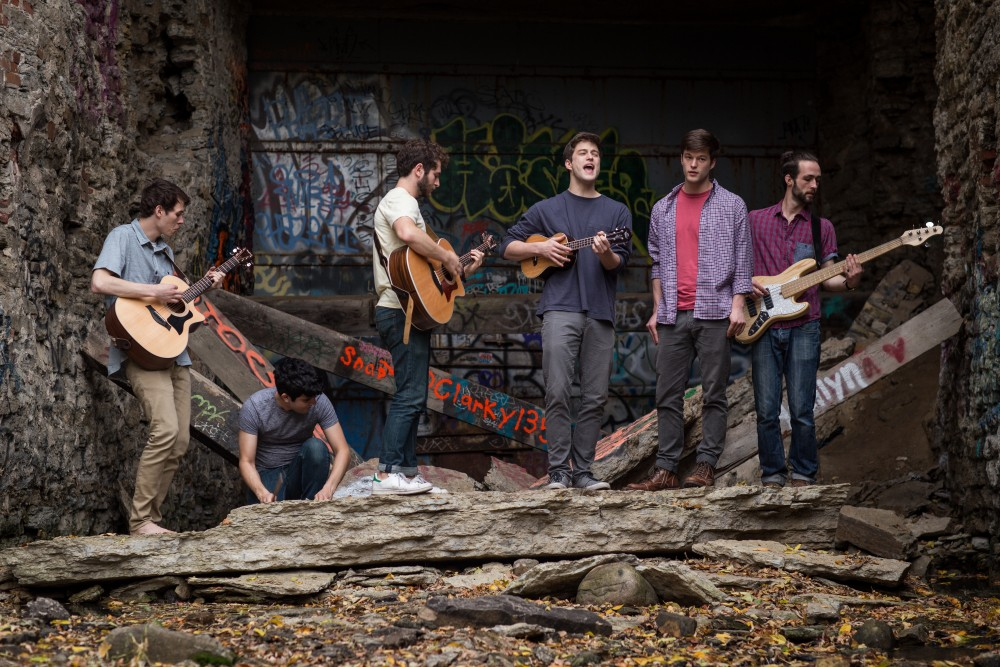 Members of Stone Arch Isles left to right, Matt Gleason, Carlos Kelley, Phil Levine, Daniel Chapdelaine, Alex Chapdelaine and Trevor Stroschein.