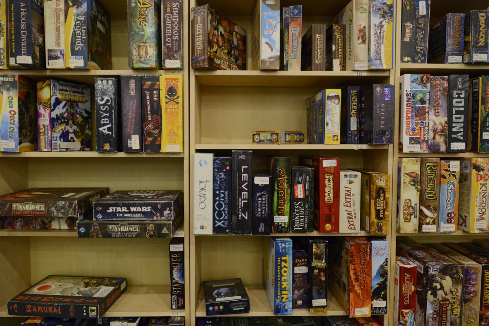 Various games line the shelves at Fantasy Flight Games in Roseville on Jan. 16, 2016. The center hosts a variety of activities and competitions for tabletop game enthusiasts in the Twin Cities.