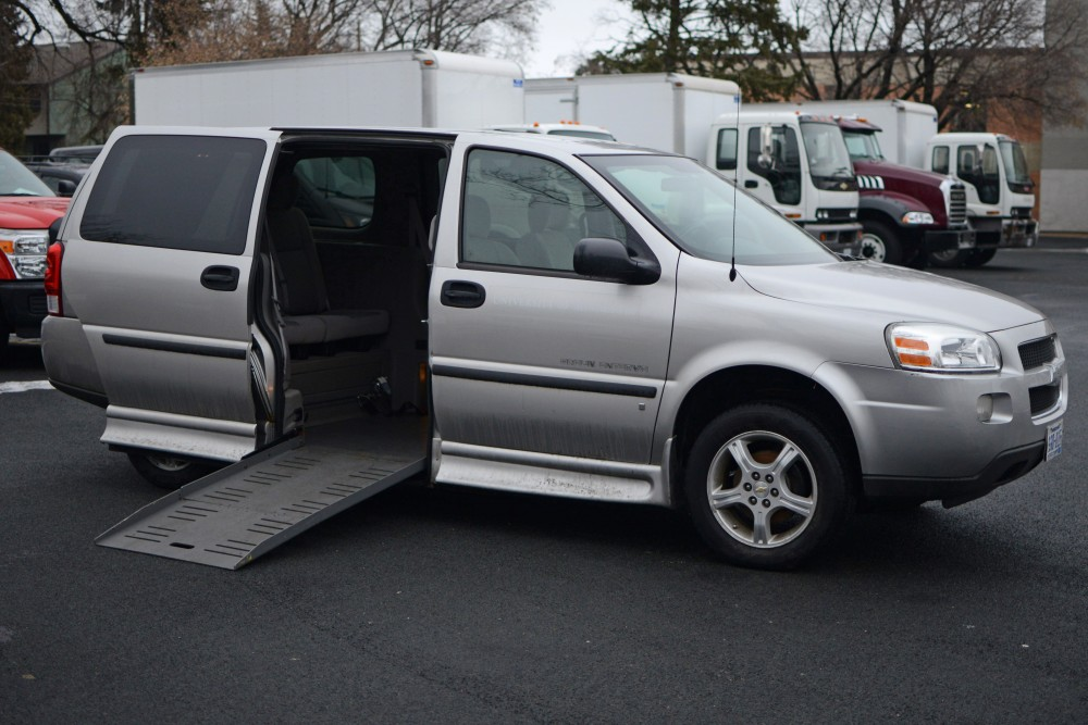 Gopher Chauffeur's new wheelchair-accessible van sits on display at the University of Minnesota Fleet Services in Minneapolis on Jan. 20, 2017.