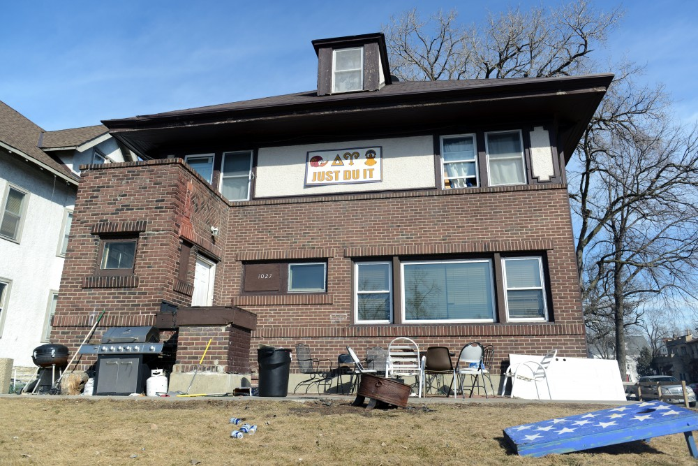 The Delta Upsilon chapter house on Sunday, Feb. 19. The chapter was suspended after issues surrounding sexual assault were reported to its international headquarters.