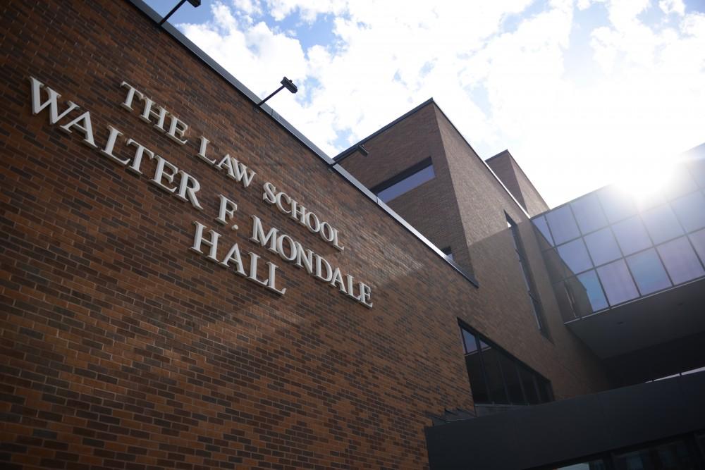 Walter F. Mondale Hall at the University of Minnesota on Sunday.