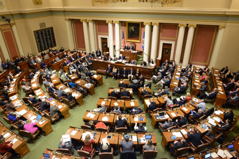 The Minnesota House and Senate meet in a joint session to vote for new members of the University's Board of Regents on Wednesday, Feb. 22, 2017 at the State Capitol.