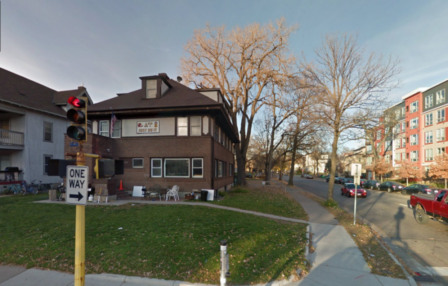 A street view of Delta Upsilon at the University of Minnesota from Nov. 2016.