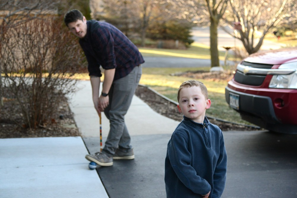 Vine-famous Gavin Thomas with is uncle, Nick Mastodon, on Sunday, Feb. 26, 2017 at his grandmother's home in Eden Prairie. Gavin became famous for his reaction faces.