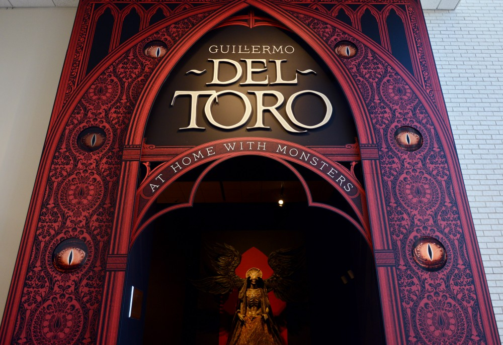 The entrance toGuillermo del Toros At Home With Monsters exhibit at the Minneapolis Institute of Arts as seen on March 2, 2017.