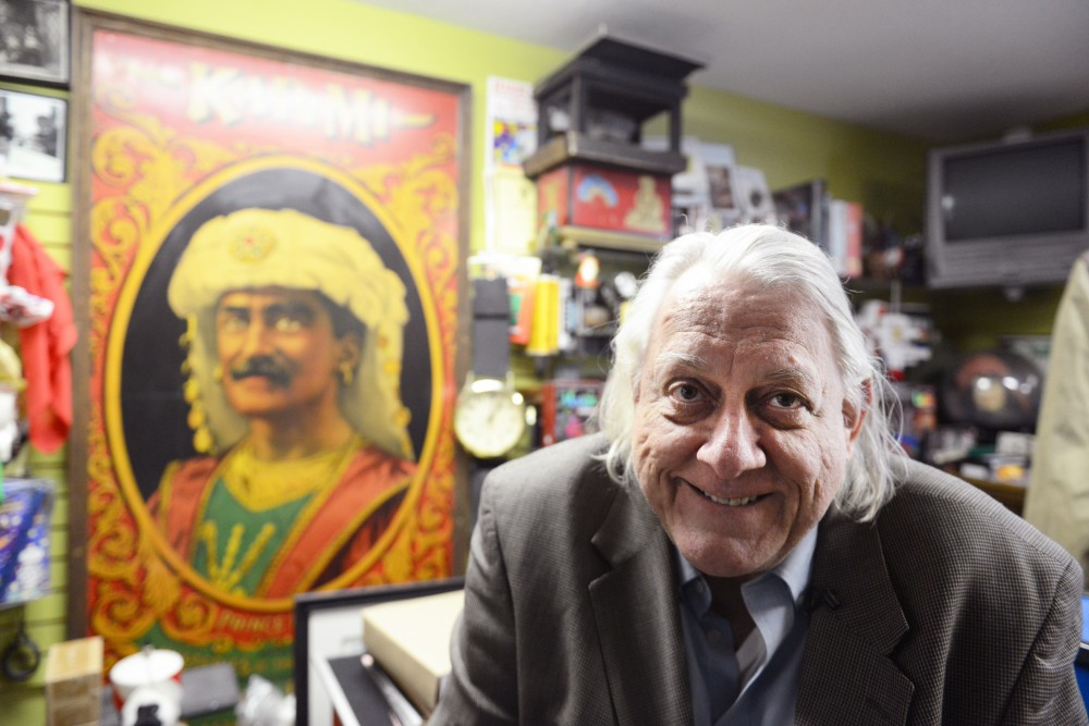 Larry Kahlow poses for a portrait in Eagle Magic and Joke Store on Friday, March 24, 2017. The shop opened in 1899 and is the longest continually running magic shop in the country.