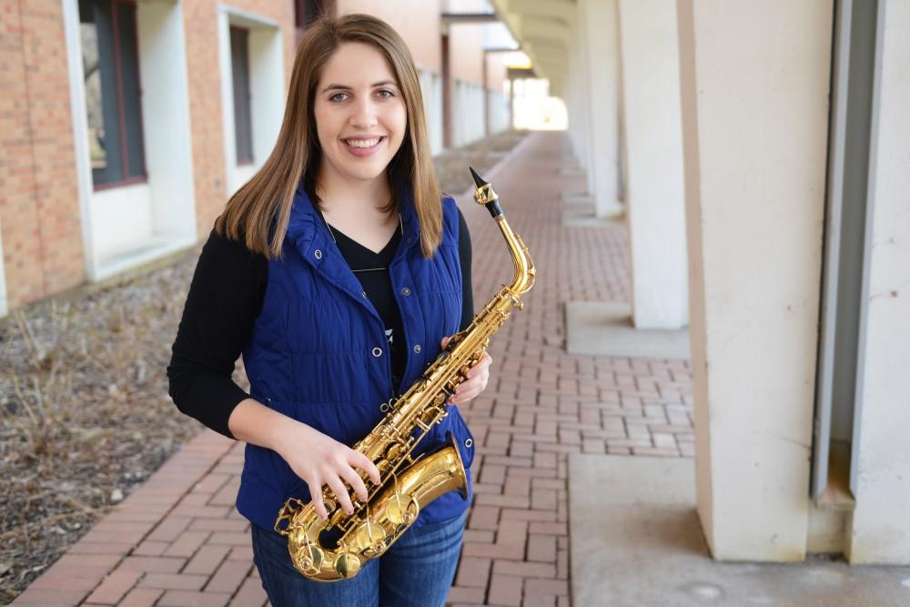 Bachelor of Music senior Hannah Hickman poses for a portrait outside Ferguson Hall on Tuesday, March 28, 2017.