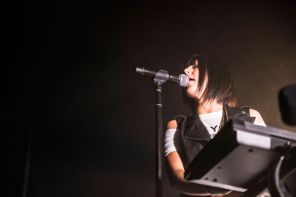 Phantogram performs at First Avenue's Mainroom on April 13, 2014.