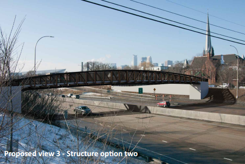 Though a new design has been chosen, some features of the 5th Street SE pedestrian bridge are still being decided on.