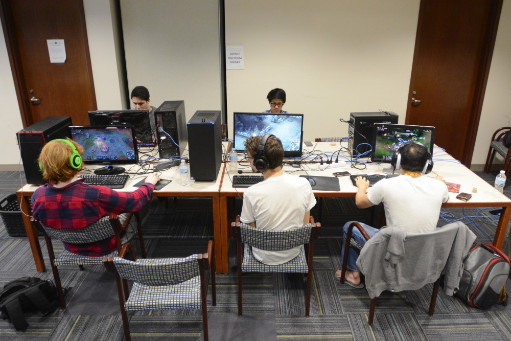 The University of Minnesota's League of Legends team holds their first practice on Saturday, April 1, 2017 at Argyle House. The team plans on holding try-outs then meeting once every two weeks.