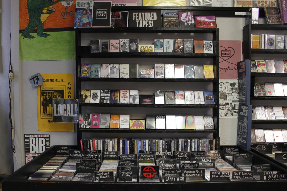 Cassettes line the shelves ofDead Media in on East 25th Streetin Minneapolis on Wednesday, Apr. 26, 2017. Dead Media sells a variety of old books, vinyl records and other outdated mediarecorded on older platforms, including many cassettes recorded by local artists.