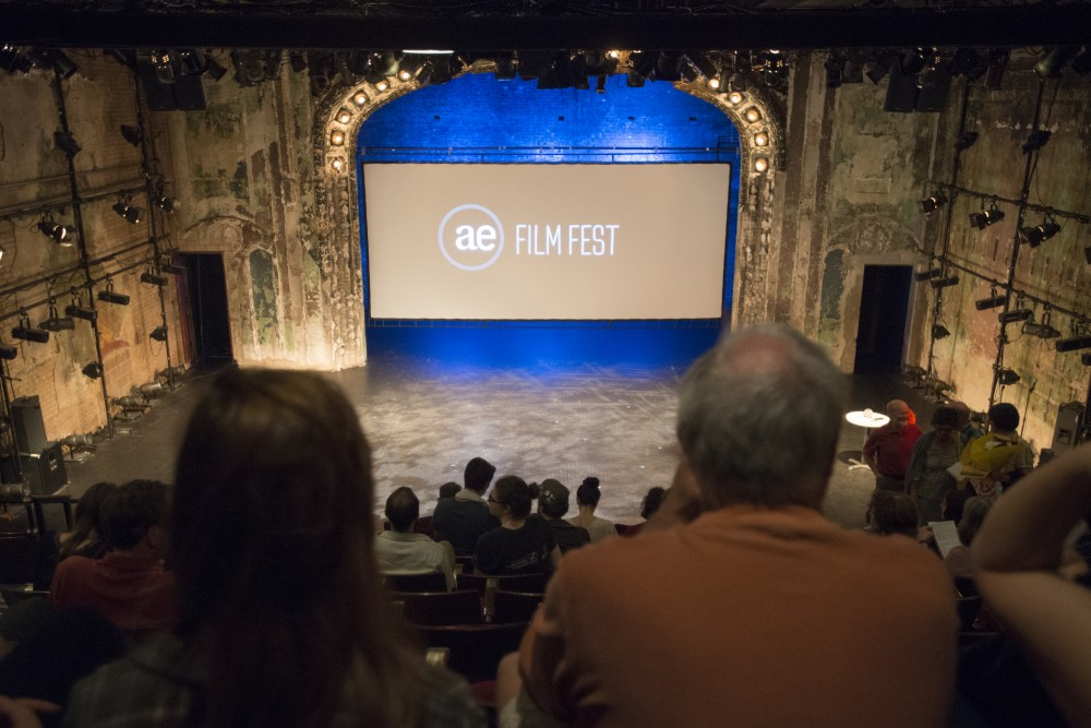 Audience members seat themselves before the Altered Esthetics Film Festival on Thursday, June 1 at the Southern Theater on West Bank.