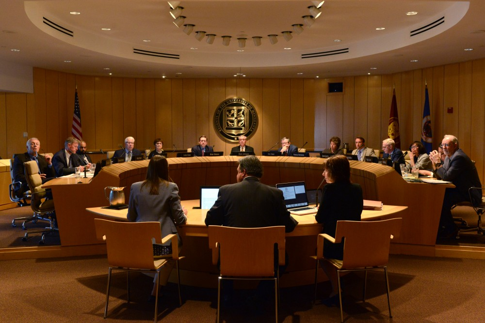 University of Minnesota and administration discuss  President Kalers recommended budget for 2018 on Thursday, June 8, 2017 at McNamara Alumni Center.