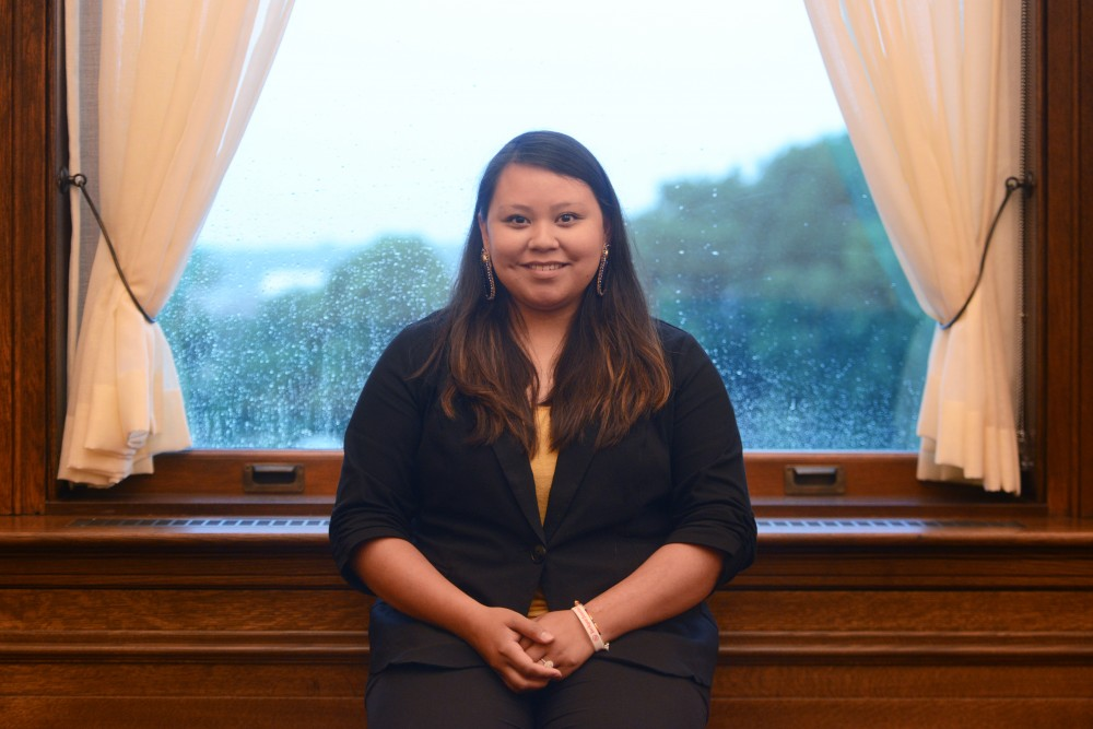 Vanessa Goodthunder poses for a portrait on Monday, June 12 inside the Minnesota Capitol Building in St. Paul.