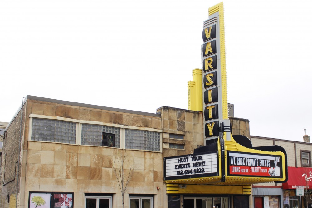 The exterior of Varsity Theater in Dinkytown on April 26, 2017.