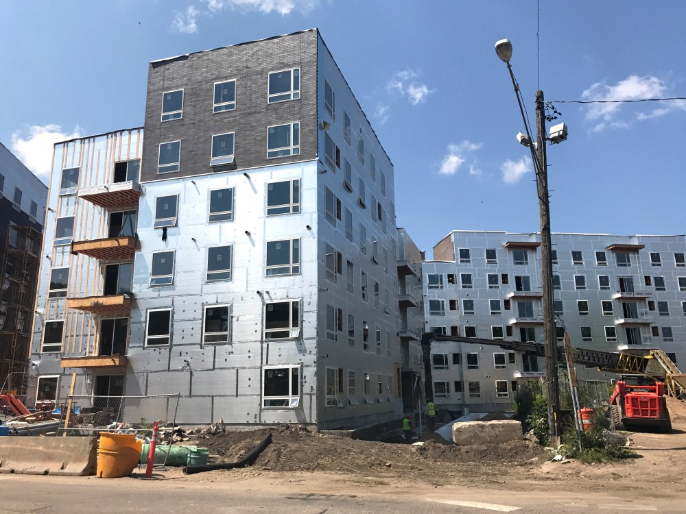 The Prime Place apartments under constructionon Tuesday, Aug. 1, 2017. With fall approaching and the apartments still unfinished, lesses were offered the option to eitherannul their leasesor wait until Dec. 29 and receive$1,500 in compensation.
