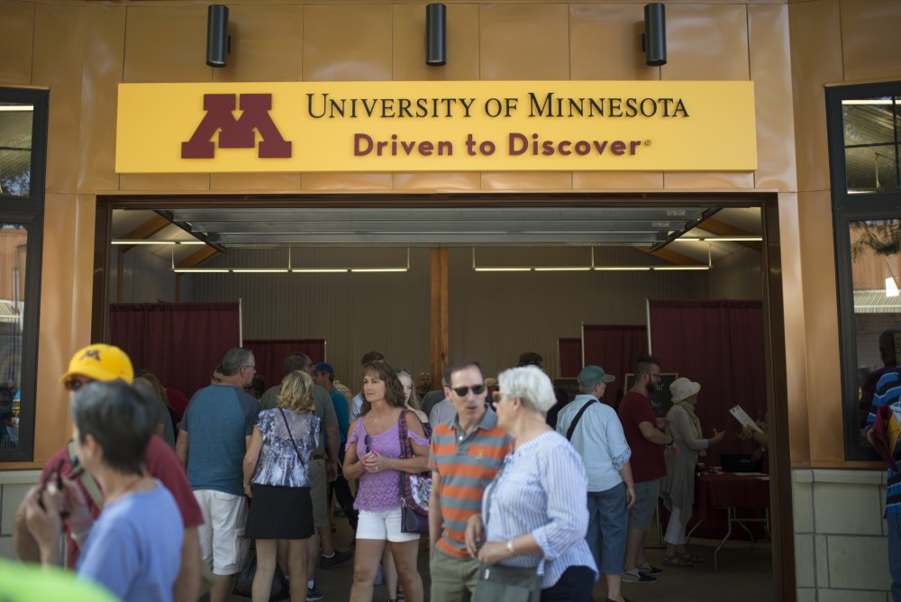 The new University of Minnesota Driven to Discover building attracts research subjects at the Minnesota State Fair on Thursday, Aug. 31.