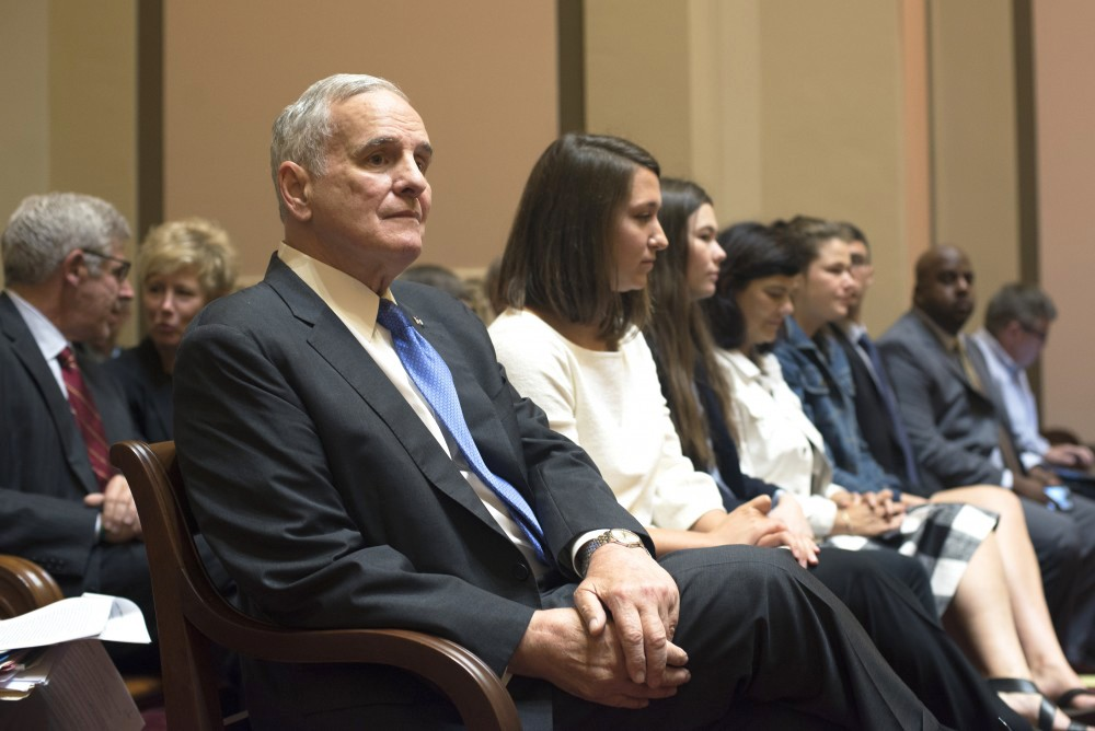 Gov. Mark Dayton on Monday, Aug. 28, at the Capitol in St. Paul.