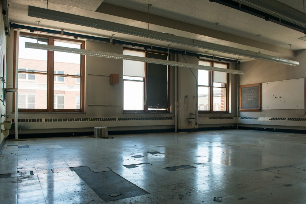 The Tate Laboratory of Physics sits empty in preparation for the two years of renovation planned for the building on June 23, 2014.