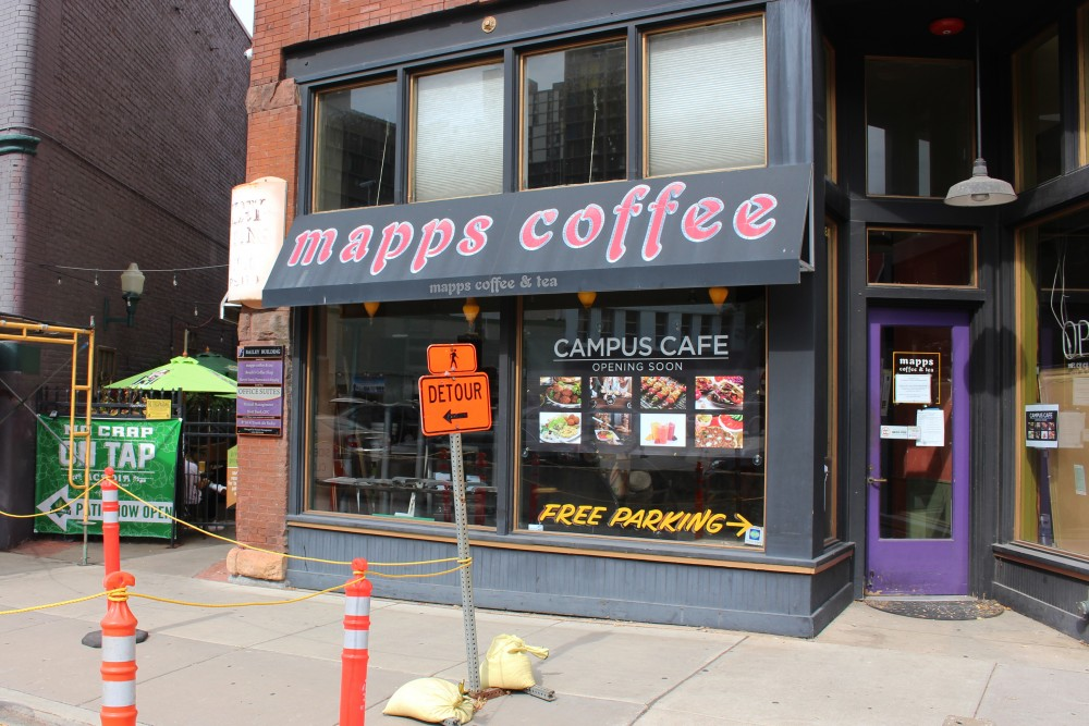 Mapps Coffee undergoes renovations on Friday with plans to reopen as Campus Cafe on West Bank.