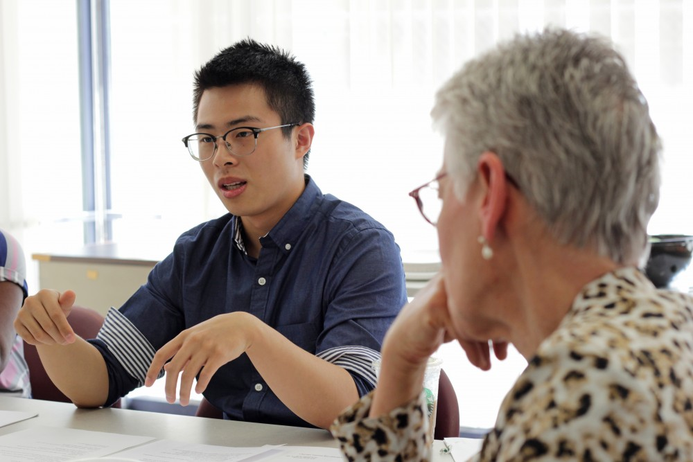 President of the MAVNI Advisory Committee Daniel Jung speaks about his personal concerns surrounding the MAVNI process in Heller Hall on Friday, Sept. 22.