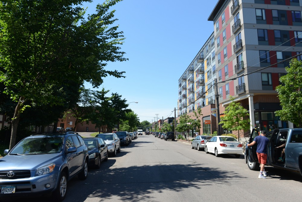 A view outside The Marshall apartment complex in Dinkytown on June 3.