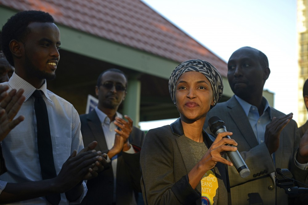 Representative Ilhan Omar announced her endorsement for Mohamud Noor in his run for Minneapolis City Council Ward 6 on Wednesday, Oct. 4, at Currie Park in Minneapolis. Omar spoke harshly of current Ward 6 City Council Member Abdi Warsame during her speech, saying that Noor would be more present in the community.