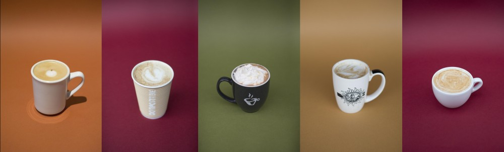 Toasted Marshmallow Pumpkin Spice at Humble Cup — The Lumberjack at Purple Onion — Aztec Mocha at Bordertown Coffee — Pumpkin Pie at Espresso Royale — Vanilla Almond Chai at Black Coffee and Waffle Bar