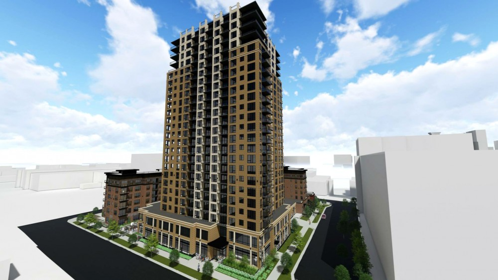 Plans for a 25-story apartment tower in Marcy-Holmes proposed by Doran Companies and CSM Corporation was denied by the Minneapolis Heritage Preservation Commission on Tuesday, Oct. 10.