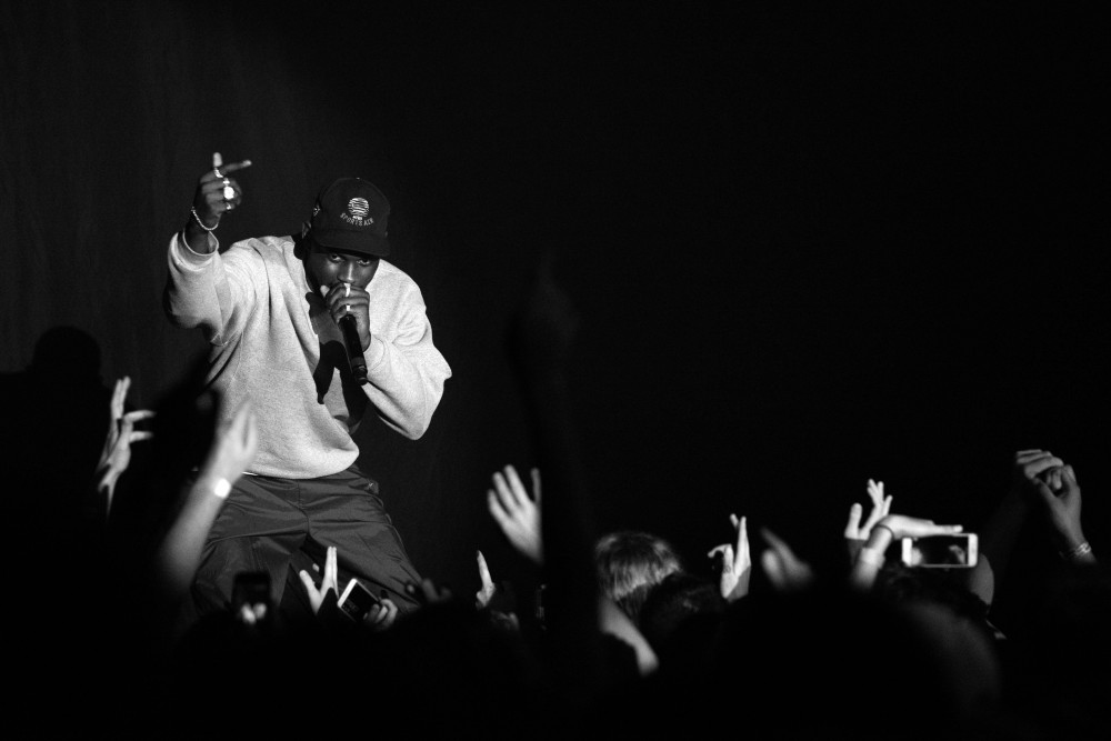 ASAP Nast, a member of the New York based hip hop collective ASAP Mob opens for the Mob's sold out show at Skyway Theatre last Saturday.